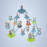 Организационная схема управления структуры деловой компании Стоковые Изображения