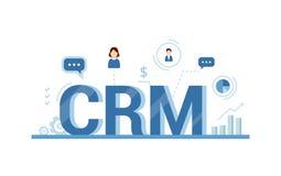 Организация данных на работе с клиентами, концепции CRM Иллюстрация управления отношения клиента Стоковое Изображение RF