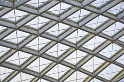 Организация конструкции современной крыши станции стальная Стоковая Фотография