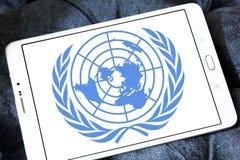 Организация Объединенных Наций, эмблема логотипа ООН Стоковые Изображения RF