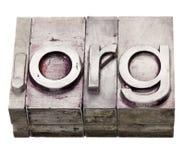 организация org интернета многоточия домена стоковая фотография