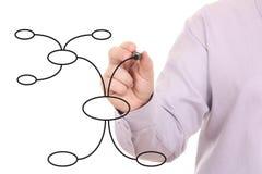 организация s человека руки чертежа диаграммы Стоковые Фотографии RF