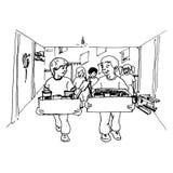 Организовать дом бесплатная иллюстрация