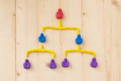 Организуйте диаграмму управления людей диаграммы ровную Стоковое Изображение