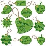 органические бирки Стоковая Фотография RF