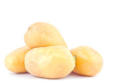органические клубни картошек на изолированной еде белой картошки предпосылки здоровой Vegetable Стоковое фото RF