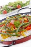 органические овощи испанского языка paella Стоковое фото RF