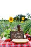 Органические овощи на таблице Стоковая Фотография