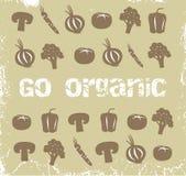 органические овощи иллюстрация вектора