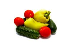 Органические органические изолированные овощи Стоковые Изображения RF