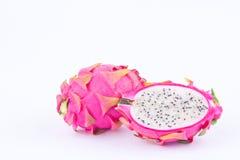 Органические dragonfruit или pitaya плодоовощ дракона на изолированной еде плодоовощ дракона белой предпосылки здоровой Стоковое фото RF