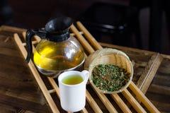Органический горячий тайский травяной чай Стоковые Изображения