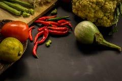 Органический, еда, предпосылка, свежая, рынок, лето, древесина, дизайн, кашевар, деревянный Стоковое фото RF