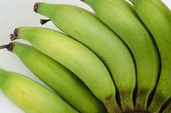 Органический зеленый банан Стоковые Фотографии RF