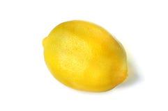 Органический изолированный лимон Стоковые Фото