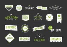 Органический комплект ярлыков Логотип собрания различный для косметик или продуктов eco Стоковая Фотография RF