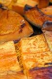 Органический кусок тыквы испеченный на праздник хеллоуина Красочная испеченная предпосылка сквоша Картина текстуры тыквы Pumpki з стоковое фото