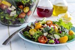 Органический супер салат вегетарианца еды Стоковые Изображения