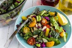 Органический супер салат вегетарианца еды Стоковое Изображение RF