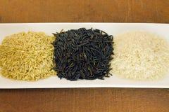 Органический сырцовый рис Стоковое Фото
