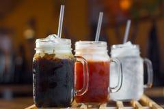 Органический тайский домодельный чай льда Стоковая Фотография RF