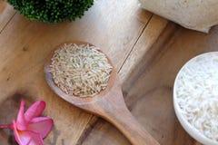 Органический тайский рис жасмина Стоковые Изображения RF