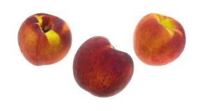 3 органических персика Стоковая Фотография RF