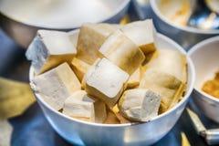 Органическое сырцовое тофу сои Стоковая Фотография RF