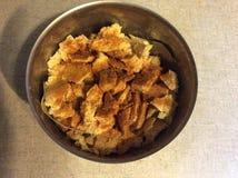 Органическое тофу отрезанное в малых частях Стоковые Изображения RF