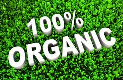 100% органическое Иллюстрация вектора