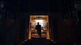 Орган внутри главного Hall сток-видео