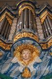 Орган в церков монастыря в Вуппертале-Beyenburg Стоковое Изображение