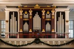 Орган епископальной церкви St Paul Стоковое фото RF