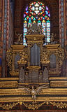 Орган Краков базилики St Marys Стоковые Изображения RF