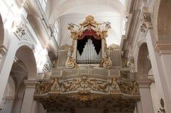 Орган нашей церков спасителя в Дубровнике, Хорватии Стоковое Фото