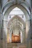 Орган на монастырской церкви Йорка (собор) стоковая фотография