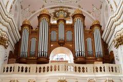 Орган собора предположения, Kalocsa, Венгрия Стоковое Изображение RF