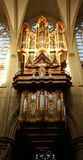 орган собора brussels Стоковое Изображение