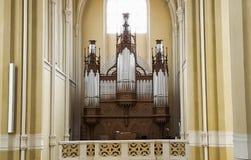 Орган трубы в соборе предположения наших дамы и St. John стоковые фото