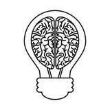 орган человеческого мозга с значком изолированным шариком иллюстрация штока
