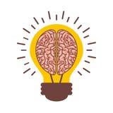 орган человеческого мозга с значком изолированным шариком бесплатная иллюстрация