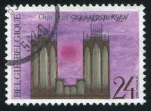 Орган Geraardsbergen церков Стоковые Фотографии RF