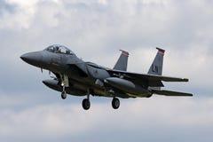 Орел забастовки USAF McDonnell Douglas F-15E военновоздушной силы Соединенных Штатов 91-0335 от 494th истребительной эскадрильи,  Стоковое Изображение RF