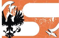 орел предпосылки heraldic Стоковое Фото