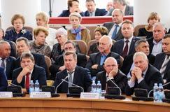 Орел, Россия, 7-ое октября 2017: Новое представление губернатора Орла Стоковая Фотография RF