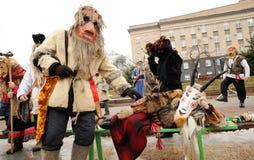 Орел, Россия, 6-ое января 2018: Koliada, русский фестиваль зимы Стоковые Изображения