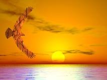 орел странный Стоковые Изображения RF