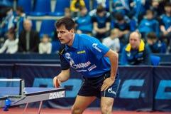 Оренбург, Россия - 03 04 2015: Конкуренции настольного тенниса Стоковое фото RF