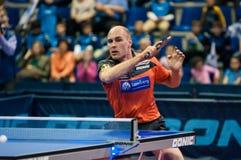 Оренбург, Россия - 03 04 2015: Конкуренции настольного тенниса Стоковые Изображения