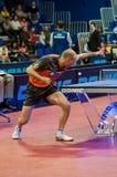 Оренбург, Россия - 03 04 2015: Конкуренции настольного тенниса Стоковое Фото